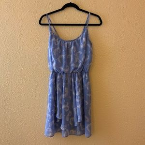 Boho Feather Empire Midi Dress